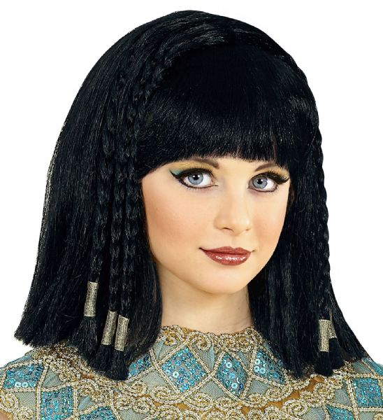 CLEOPATRA WIG w/ DECORATED PLAITS Accessory Wig Fancy Dress